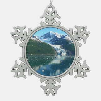 College Fjord I Scenic Alaska Cruising Snowflake Pewter Christmas Ornament