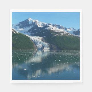 College Fjord II Beautiful Alaska Photography Paper Napkins