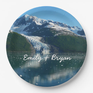 College Fjord II Beautiful Alaska Photography Paper Plate