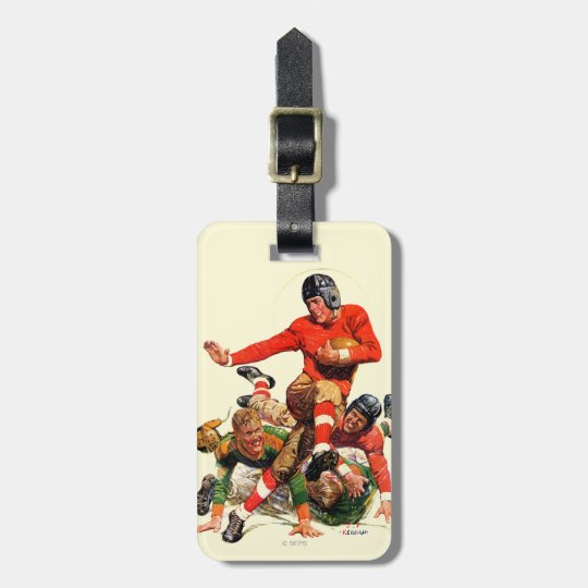 College Football Luggage Tag