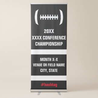 College Football Playoffs or Championship Game Retractable Banner