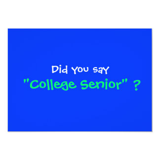 """College Graduation Party invitation 5"""" X 7"""" Invitation Card"""