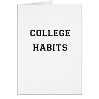 College Habits Card
