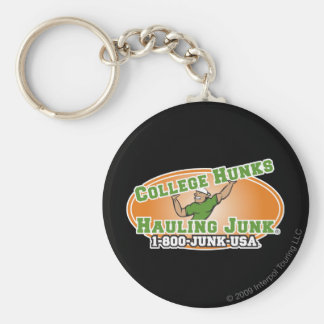 College Hunks Hauling Junk Official Logo Basic Round Button Keychain