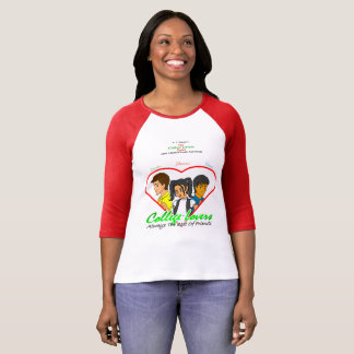 College Lovers Bella Canvas 3/4 Sleeve T-Shirt