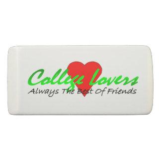 College Lovers Wedge Eraser