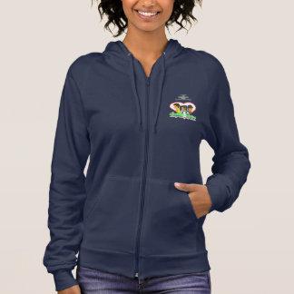 College Lovers Women's Fleece Zip Hoodie, Navy Hoodie