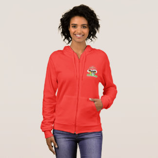 College Lovers Women's Fleece Zip Hoodie, Red Hoodie