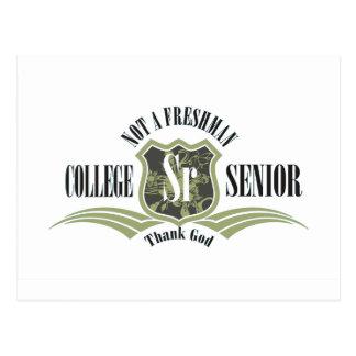 College Senior Not a Freshman Postcard