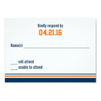 College Stripe Bar Mitzvah Response Card