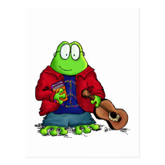 College Student Nerd Frog Postcard