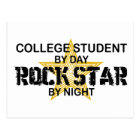 College Student Rock Star by Night Postcard