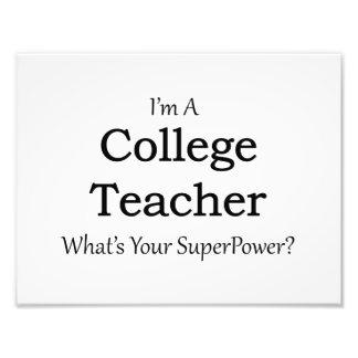 College Teacher Photo Print