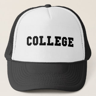 College with Black Lettering Trucker Hat