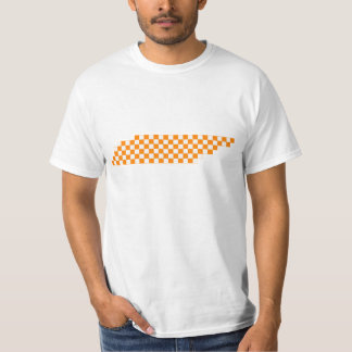 Collegiate Orange and White Pixel Tennessee T-Shirt