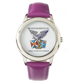 Collegio Armeno Stainless Steel Purple Wristwatches