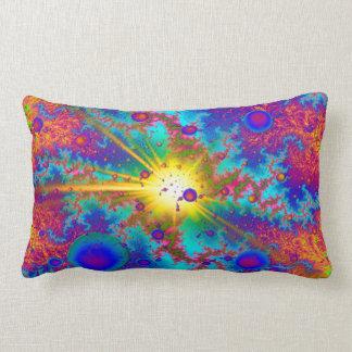 Colliding Dweeb Ballz Psychedelic Lumbar Pillow