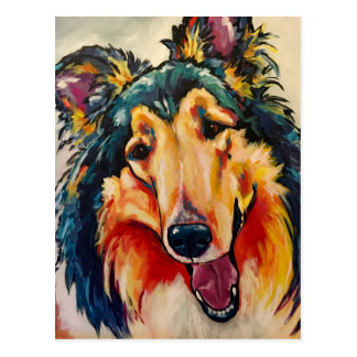 COLLIE 3 POSTCARD