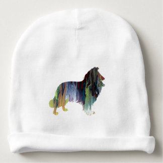 Collie Art Baby Beanie