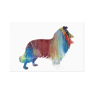 Collie Art Canvas Print