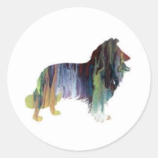 Collie Art Classic Round Sticker