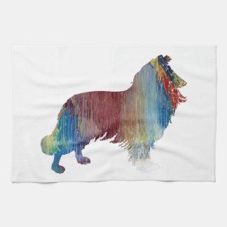 Collie Art Kitchen Towel