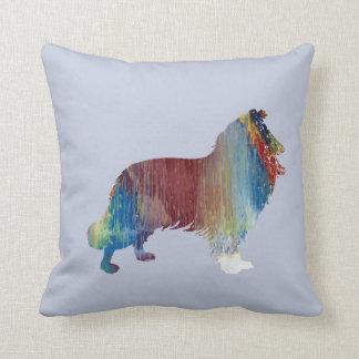 Collie Art Throw Pillow