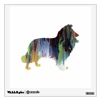 Collie Art Wall Decal