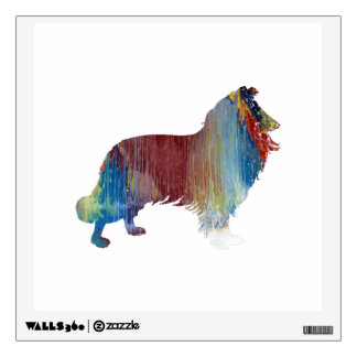 Collie Art Wall Sticker