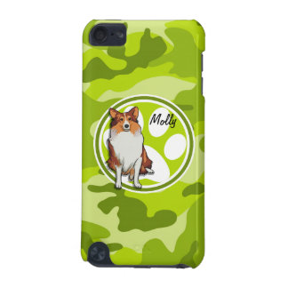 Collie bright green camo camouflage iPod touch 5G cases
