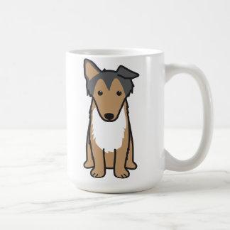 Collie Dog Cartoon Coffee Mug