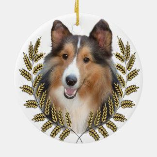 Collie Dog Christmas Ornament