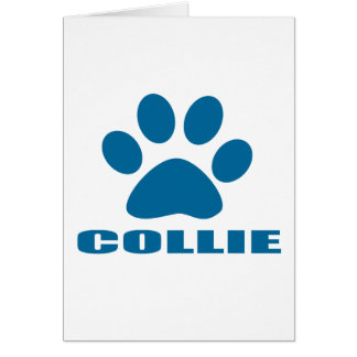 COLLIE DOG DESIGNS CARD