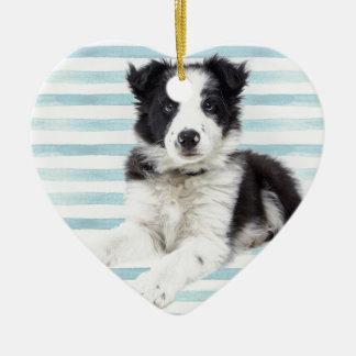 Collie Dog Pup Ceramic Ornament