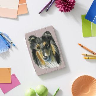 Collie Dog Watercolor Illustration iPad Mini Cover