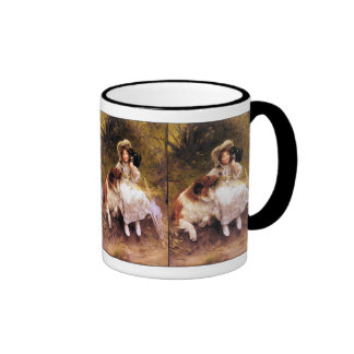 Collie, Girl and Cat Mugs