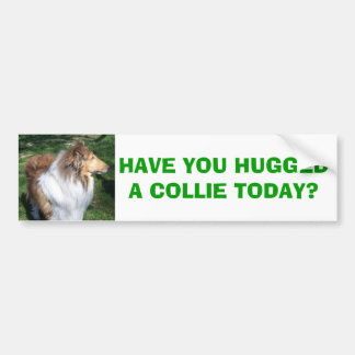 COLLIE, HAVE YOU HUGGED A COLLIE TODAY? BUMPER STICKER