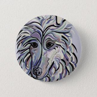 Collie in Denim Colors 2 Inch Round Button