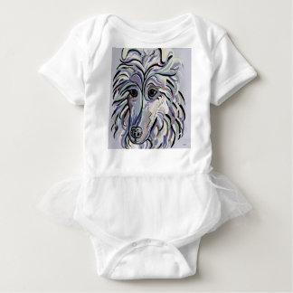 Collie in Denim Colors Baby Bodysuit