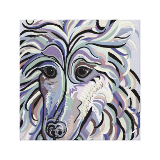 Collie in Denim Colors Canvas Print