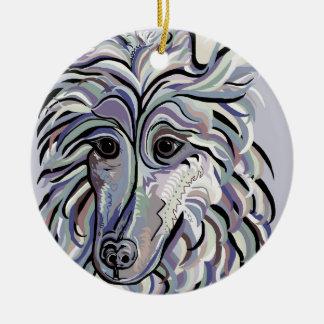 Collie in Denim Colors Ceramic Ornament