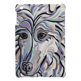 Collie in Denim Colors Cover For The iPad Mini