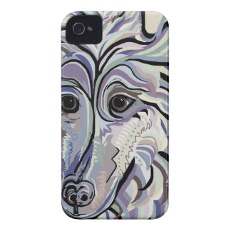 Collie in Denim Colors iPhone 4 Case