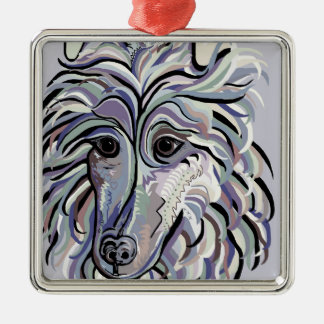 Collie in Denim Colors Metal Ornament