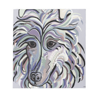 Collie in Denim Colors Notepad