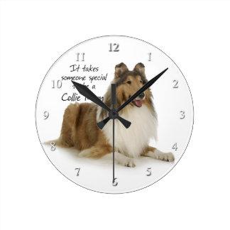 Collie Mom Clock
