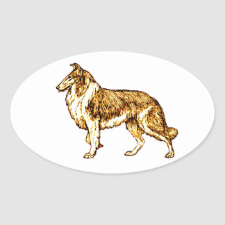 Collie Oval Sticker