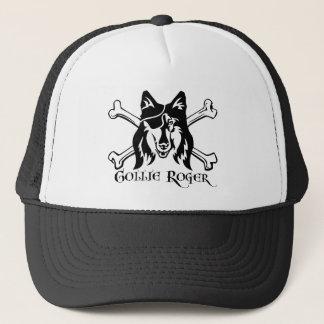 Collie Pirate Dog Trucker Hat