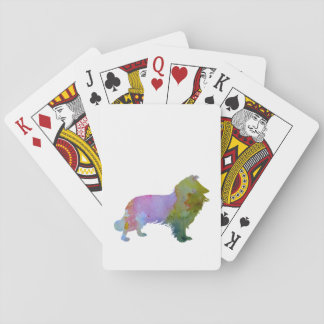 Collie Playing Cards