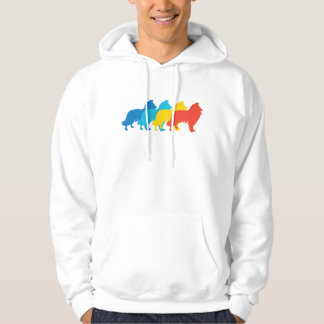 Collie Retro Pop Art Hoodie